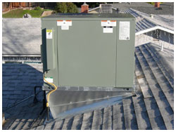 new heating system - roof top - after picture