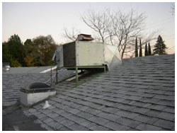 old heating system - roof top - before picture